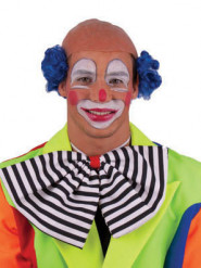 Blauwe kale clownspruik