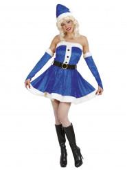Blauw kerstvrouw voor vrouwen