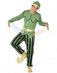 Groene elf kostuum voor heren