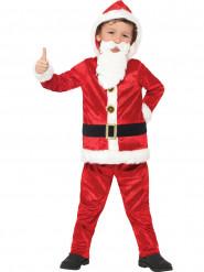 Kerstman kostuum met grote buik en geluid voor kinderen