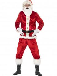 Kerstman kostuum met grote buik en geluid voor volwassenen