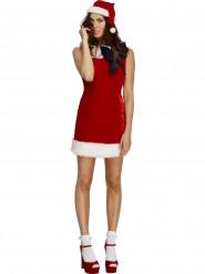 Sexy rode kerstjurk met strik voor vrouwen
