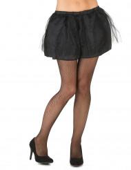 Zwarte tutu met ondoorzichtige onderrok voor vrouwen