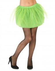 Groene tutu met ondoorzichtige onderrok voor vrouwen