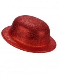 Rode glitter bolhoed voor volwassenen