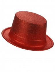 Hoge glitter hoed voor volwassenen