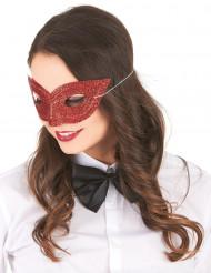 Rood oogmasker met pailletten voor volwassenen