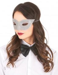 Zilverkleurig Venetiaans masker voor volwassenen