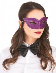Paars Venetaans masker met glitters volwassenen