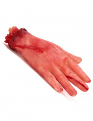 Bloederige afgesneden hand