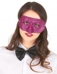 Roze glitter masker voor volwassenen