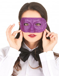 Paars glitter masker voor volwassenen