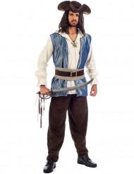 Blauw piratenkostuum voor mannen