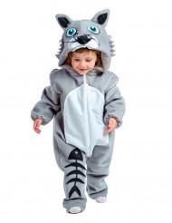 Premium grijs kattenkostuum voor baby's