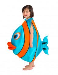 Blauw vissenkostuum voor kinderen