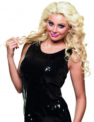Zwart pailletten shirt voor dames
