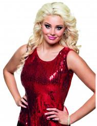 Rood glitter shirt voor dames