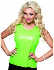 Fluo groen glitter shirt voor dames