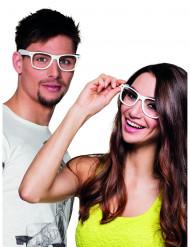 4 witte brillen voor volwassenen