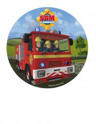Eetbare Sam de Brandweerman schijf