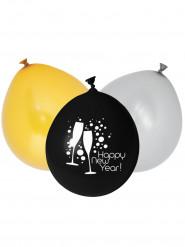 12 latex Happy New Year ballonnen