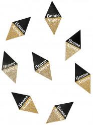 10 zwarte en goudkleurige Bonne Année confetti