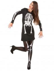 Halloween skeletkostuum voor vrouwen