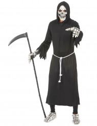 Duister reaper skelet kostuum voor volwassenen