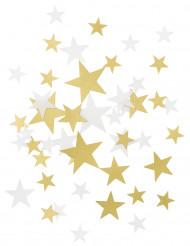 Goudkleurige en witte sterren confetti