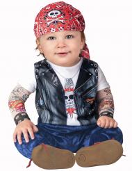Biker kostuum voor baby