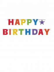 Veelkleurige Star Happy Birthday slinger