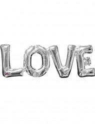 Zilverkleurige Love ballon