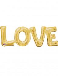 Goudkleurig Love ballon 63 x 22 cm