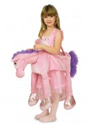 Roze paardrijder kostuum voor meisjes