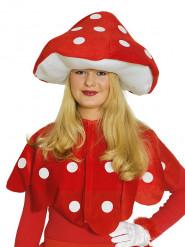 Rode paddenstoel cape