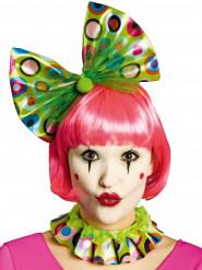 Groene clown kraag en haarband voor volwassenen