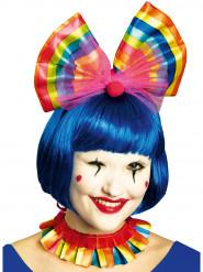 Veelkleurige clownskraag en haarband voor volwassenen