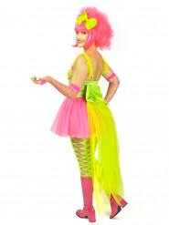 Fluo kostuum met tule sleep voor vrouwen