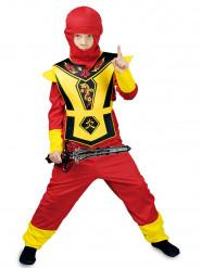 Rood en geel ninja kostuum voor jongens