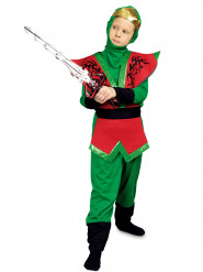 Rood en groen ninjakostuum voor jongens
