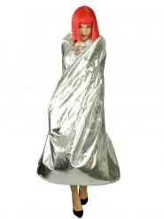 Zilverkleurige cape voor volwassenen