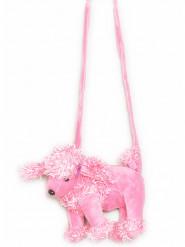Roze pluchen honden tas