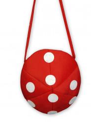 Rood met witte paddestoel tas