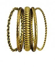 Set 5 goudkleurige armbanden