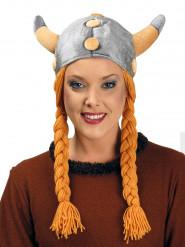 Viking helm met vlechten voor volwassenen
