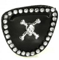 Piratenooglapje met strass voor vrouwen