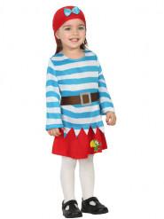Baby piraten kostuum voor meisjes