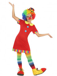 Rood clownskostuum voor meisjes