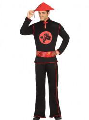 Zwart Chinees kostuum voor mannen