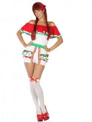 Kort Mexicaans kostuum voor vrouwen